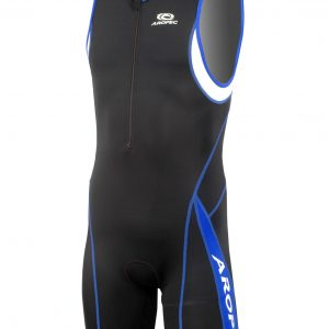 Triathlon drakt front blue